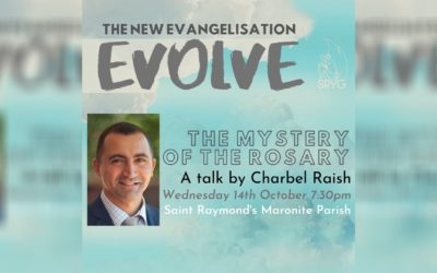 Charbel Raish talk on the Mystery of the Rosary coming up October 14!