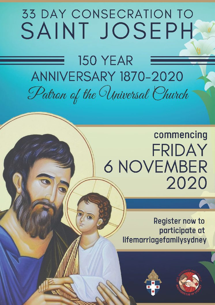 33 Day Consecration to Saint Joseph for the Anniversary of the Proclamation of St Joseph as the Patron and Protector of the Universal Church